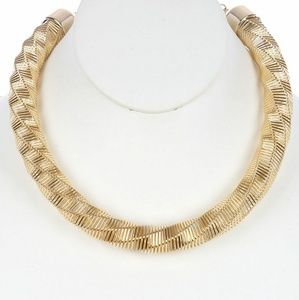 Coil twisted necklace 16 inch